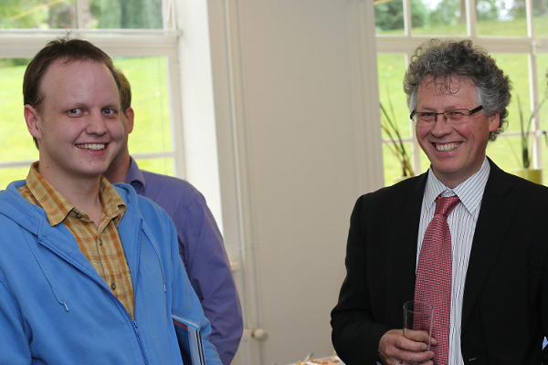 Dr. Frank Thuijsman and me at my Master graduation ceremony in Maastricht, July 14th, 2012