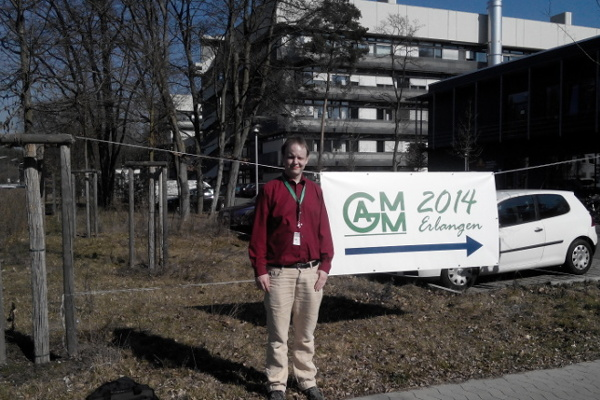 Me in Erlangen during the GAMM Conference, March 12, 2014