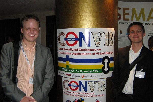 Me and Fabian Ritter in London during the ConVR conference, October 31, 2013