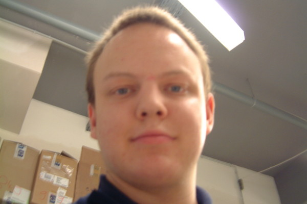 Me during my traineeship at PC-Spezialist Kolbermoor, February 15th, 2002