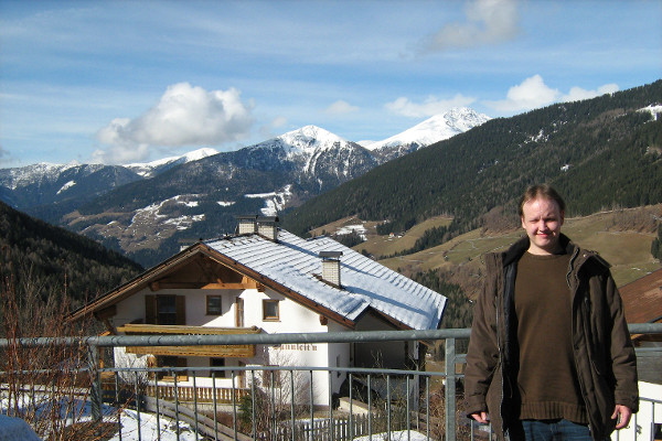 Me at the TUM Winterseminar in South Tyrol, Italy, March 11, 2013
